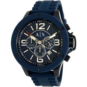 Armani Exchange Men's AX1524 Blue Resin Quartz Watch