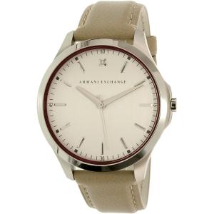 Armani Exchange Women's AX2183 Silver Leather Quartz Watch