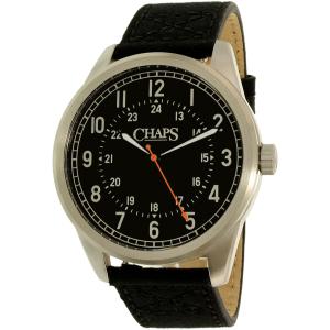 Chaps Men's Bransen CHP5012 Black Leather Quartz Watch