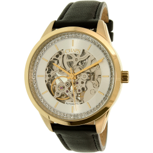 Chaps Women's Kasia CHP9507 Gold Leather Automatic Watch