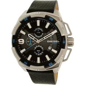Diesel Men's Heavyweight DZ4392 Silver Leather Quartz Watch
