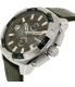 Diesel Men's Heavyweight DZ4392 Silver Leather Quartz Watch - Side Image Swatch