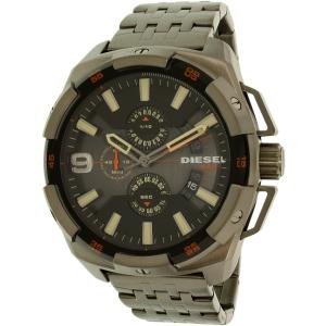 Diesel Men's Heavyweight DZ4394 Gunmetal Stainless-Steel Quartz Watch