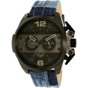 Diesel Men's Ironside DZ4397 Black Leather Quartz Watch