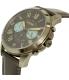 Fossil Men's Grant FS5183 Grey Leather Quartz Watch - Side Image Swatch