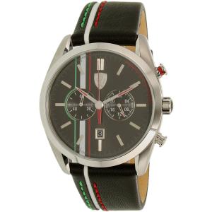 Ferrari Men's 0830237 Black Leather Quartz Watch
