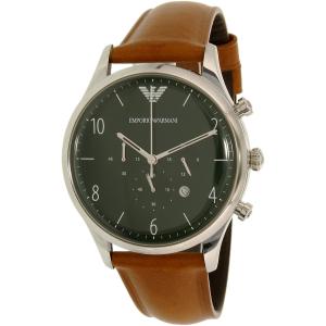 Emporio Armani Men's AR1941 Brown Leather Quartz Watch