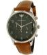 Emporio Armani Men's AR1941 Brown Leather Quartz Watch - Main Image Swatch