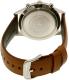 Emporio Armani Men's AR1941 Brown Leather Quartz Watch - Back Image Swatch