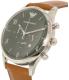 Emporio Armani Men's AR1941 Brown Leather Quartz Watch - Side Image Swatch