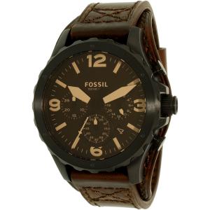 Fossil Men's Nate JR1511 Brown Leather Quartz Watch