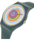 Swatch Men's New Gent SUON117 Blue Silicone Quartz Watch - Side Image Swatch