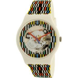 Swatch Men's New Gent SUOW120 Multicolor Silicone Swiss Quartz Watch