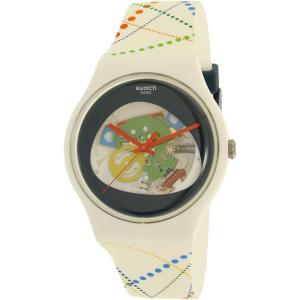 Swatch Men's Originals SUOW128 White Silicone Quartz Watch