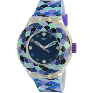 Swatch Women's Scuba SUUK110 Purple Silicone Swiss Quartz Watch