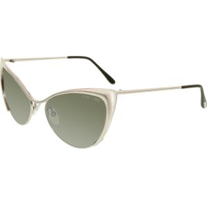 Tom Ford Women's Nastasya FT0304-16C-56 Silver Cat Eye Sunglasses