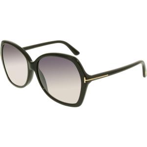 Tom Ford Women's Gradient Carola FT0328-01B-60 Black Butterfly Sunglasses