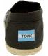 Toms Men's Alpargata Linen Ankle-High Fabric Flat Shoe - Back Image Swatch