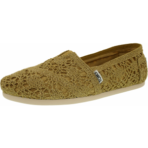 Toms Women's Alpargata Metallic Crochet Ankle-High Synthetic Flat Shoe