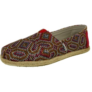 Toms Women's Alpargata Woven Ankle-High Fabric Flat Shoe