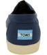 Toms Men's Avalon Slipon Canvas M Ankle-High Canvas Flat Shoe - Back Image Swatch