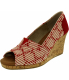 Toms Women's Classic Wedge Cross Stitch Cork Ankle-High Fabric Sandal - Main Image Swatch
