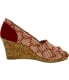 Toms Women's Classic Wedge Cross Stitch Cork Ankle-High Fabric Sandal - Side Image Swatch