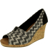 Toms Women's Classic Wedge Woven Cork Ankle-High Fabric Sandal - Main Image Swatch