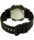 Casio Men's Sports AEQ110W-1AV Black Resin Quartz Watch - Back Image Swatch