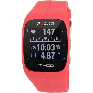 Polar Women's M400 90057192 Pink Silicone Quartz Watch