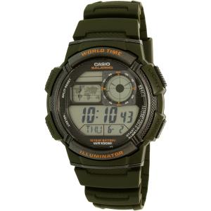 Casio Men's AE1000W-3AV Green Rubber Quartz Watch