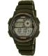 Casio Men's AE1000W-3AV Green Rubber Quartz Watch - Main Image Swatch