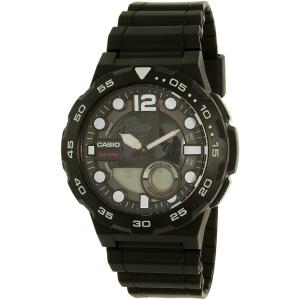 Casio Men's AEQ100W-1AV Black Resin Quartz Watch