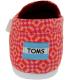 Toms Women's Alpargata Pattern Canvas W Ankle-High Canvas Flat Shoe - Back Image Swatch