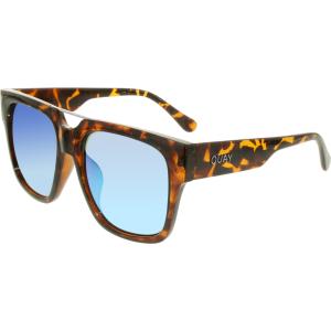 Quay Women's Mirrored Mila QC-000137-TORT/BLUE Tortoiseshell Square Sunglasses