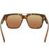 Quay Women's Mirrored Mila QC-000137-TORT/BLUE Tortoiseshell Square Sunglasses - Back Image Swatch
