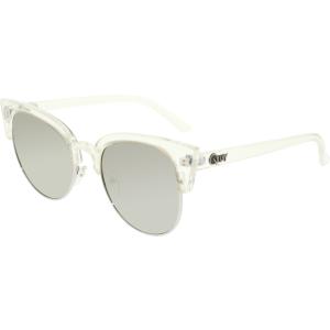 Quay Women's Mirrored Avalon QU-000126-CLR/SLV Clear Cat Eye Sunglasses