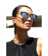 Quay Women's Mirrored Every Little Thing QW-000028-BLK/LIL Black/Silver Cat Eye Sunglasses - V4 Image Swatch