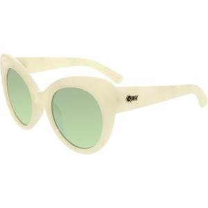 Quay Women's Mirrored Screamin Diva QW-000080-WHTMAR/PURP White Cat Eye Sunglasses