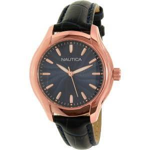 Nautica Women's NAD12002M Blue Leather Quartz Watch