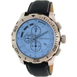 Nautica Men's NAD19519G Blue Leather Quartz Watch