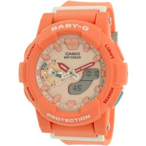 Casio Women's Baby-G BGA185-4A Peach Rubber Quartz Watch