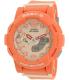 Casio Women's Baby-G BGA185-4A Peach Rubber Quartz Watch - Main Image Swatch