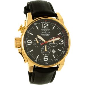 Invicta Men's I-Force 20135SYB Black Leather Quartz Watch