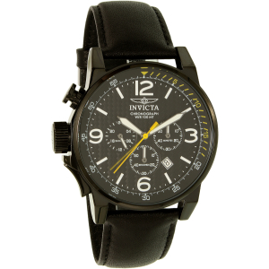 Invicta Men's I-Force 20140SYB Silver Leather Quartz Watch