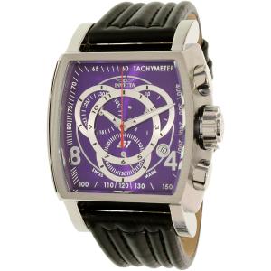 Invicta Men's S1 Rally 20240 Black Leather Swiss Chronograph Watch