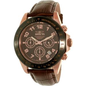 Invicta Men's Speedway 10712 Brown Leather Quartz Watch