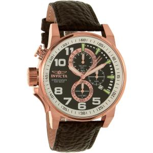 Invicta Men's I-Force 13056SYB Brown Leather Quartz Watch