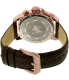 Invicta Men's I-Force 13056SYB Brown Leather Quartz Watch - Back Image Swatch