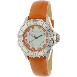 Invicta Women's Pro Diver 18491 Orange Leather Quartz Watch